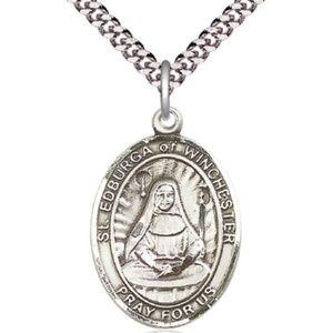 Sterling Silver St Edburga of Winchester Pendant